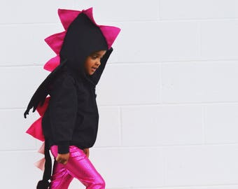 Pink dragon costume / Halloween / dragon hoodie / toddler dragon costume / dragon costume kids / dragon birthday party shirt / girl gift & Dragon Costume/ Toddler Dinosaur Costume/ Kids Costume/ Baby