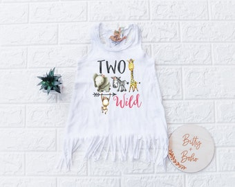 Second Birthday Outfit Girl, Two Wild Shirt Dress, 2nd Birthday Outfit Girl, Zoo Birthday Shirt,Birthday Girl Dress, Zoo Animal Birthday
