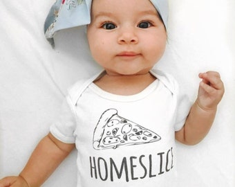 Home Slice Pizza Baby Onesie®, Hipster Baby, Funny Baby Onesies, Baby Shower Gift, Pizza Shirt, Unisex Baby Clothes, Pizza Onesie, Homeslice