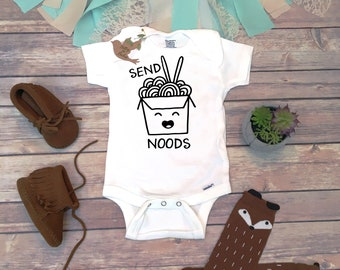 d91210e0c Chinese Food Onesie®, Funny Baby Shower Gift, Unisex Baby Clothes, Baby Boy  Clothes, Funny Onesies, Sushi Onesie, Send Noods Shirt, Hipster
