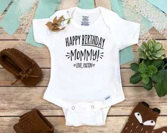 Happy Birthday Mommy OnesieR Mom Onesie Gift For New From Baby I Love My