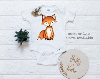 Baby Boy Urban Zoologie Foxes Brown Bubble Romper Bloomer Shorts One Only Available in size 0-3 Months