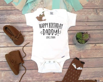 Happy Birthday Daddy OnesieR Onesie Gift For Husband Dad New From BabyI Love My