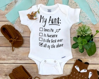9d6ca0dc Aunt Onesie®, Unique Baby Gift, Aunt Gift,Aunt Baby Bodysuit,I Have The  Best Aunt Ever, Auntie Onesie,Cute Baby Bodysuit,Unisex Baby Clothes