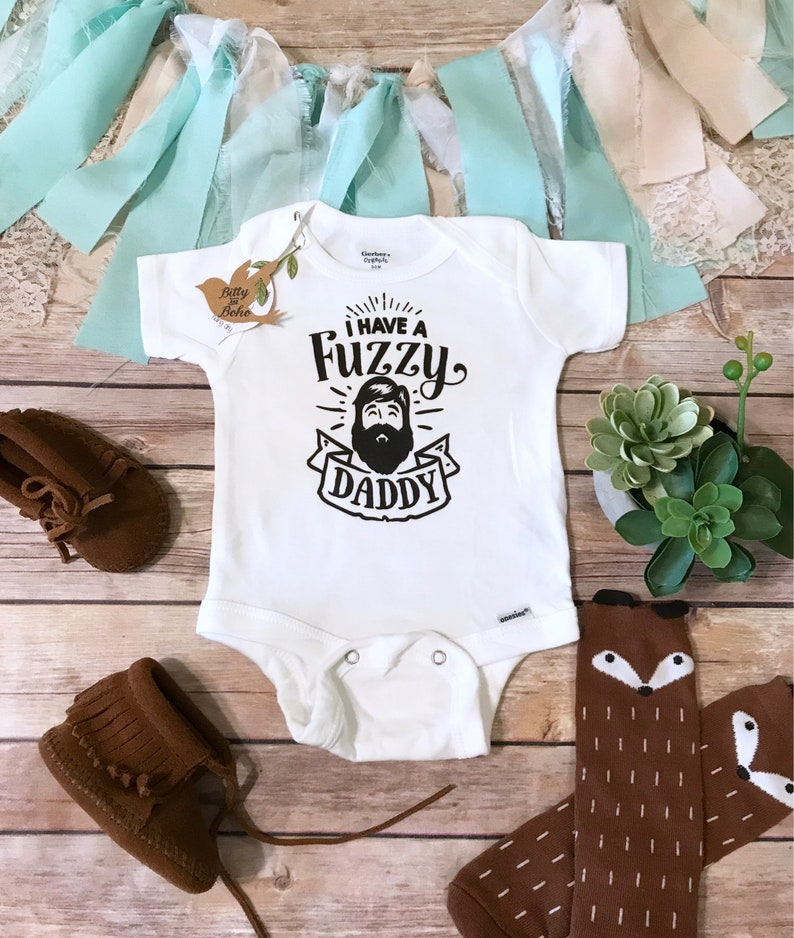 42a90d09f Bearded Daddy Onesie® Fathers Day Gift From Baby Cute Baby   Etsy