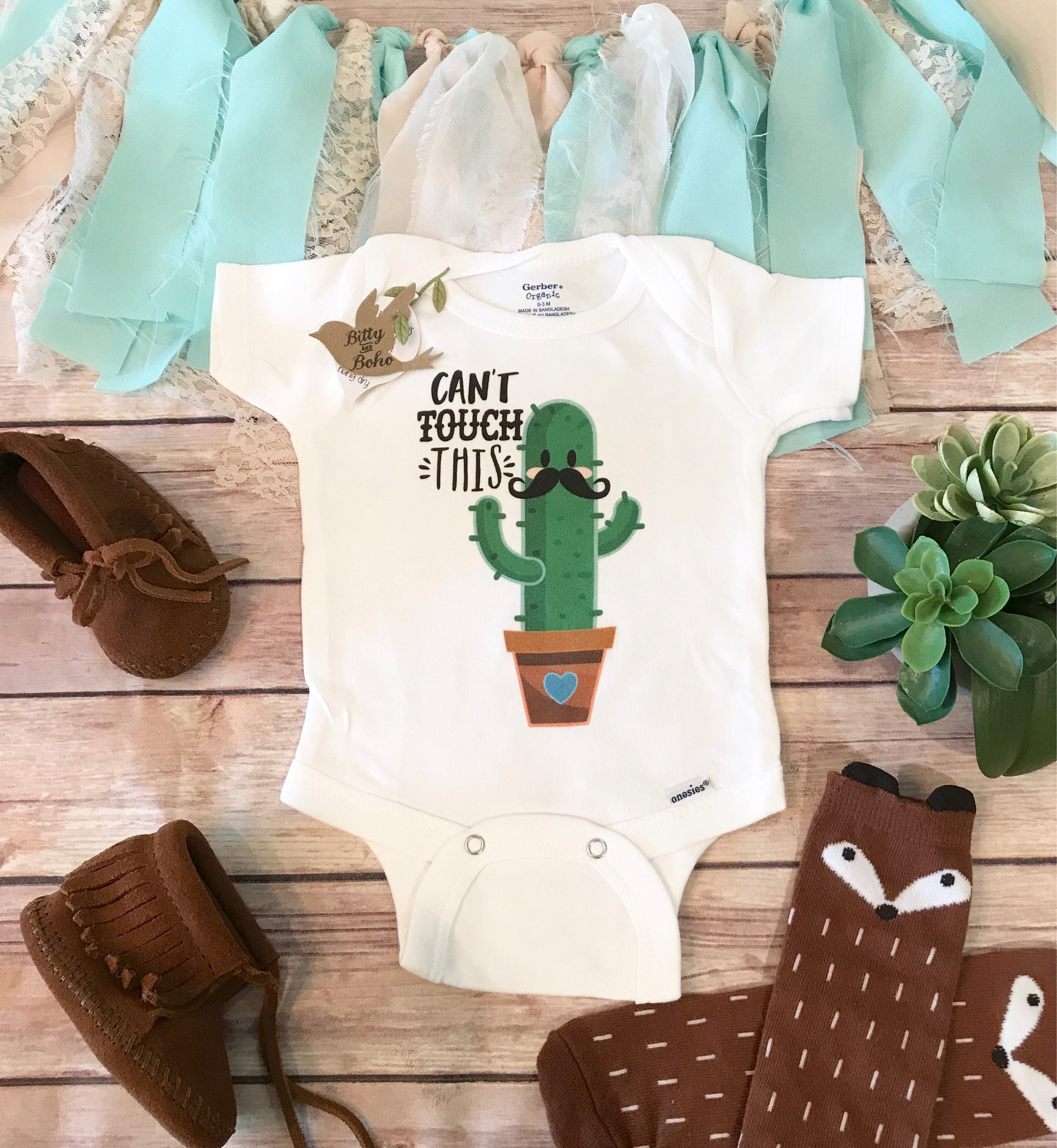 395dc3e52 Cactus Onesie® Cant Touch This Onesie Baby Shower Gift