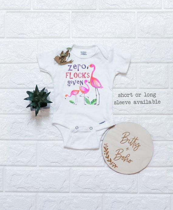 Watercolor Flamingo Flamingo Love Newbaby Baby Romper Summer Short Sleeve Onesie Funny Gift