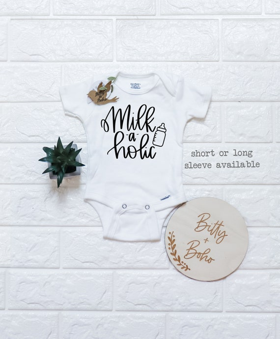 Milk-a-holic Baby Outfit  Baby Shower Gift  Breastmilk