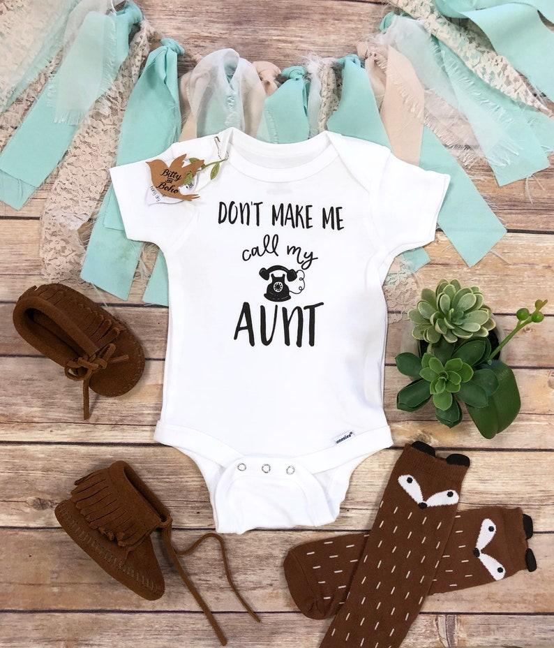 fdf4cc47b Aunt Onesie® Aunt Gift Aunt Baby Bodysuit Funny Onesies | Etsy