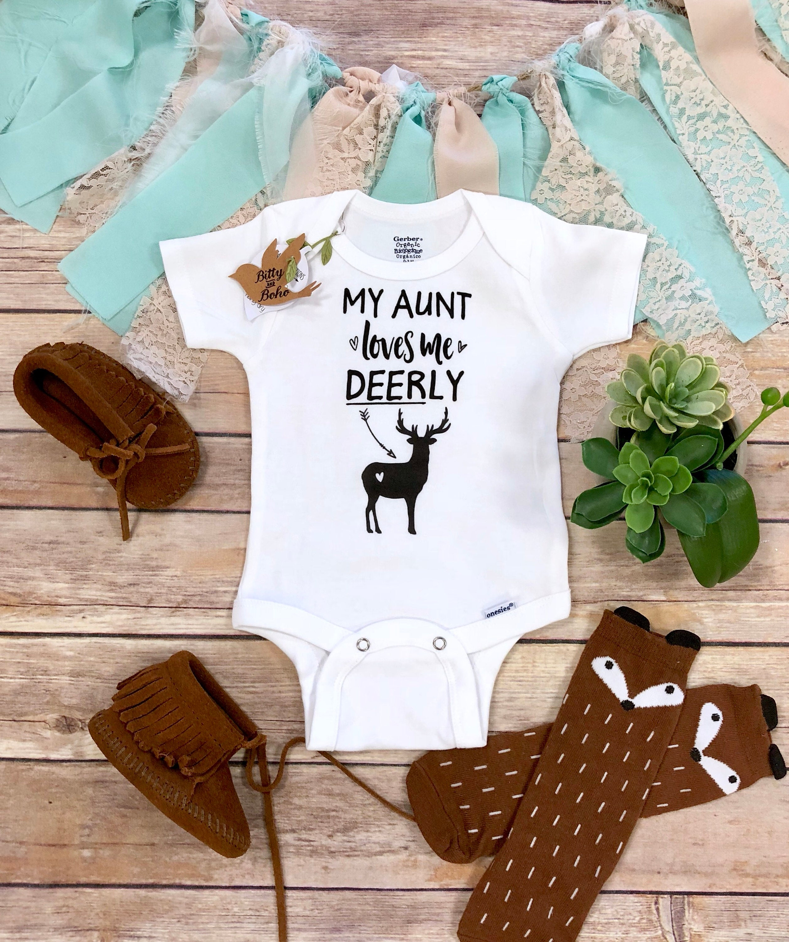 dae434e0451 Aunt Gift Aunt Onesie® My Aunt Loves Me Aunt Baby