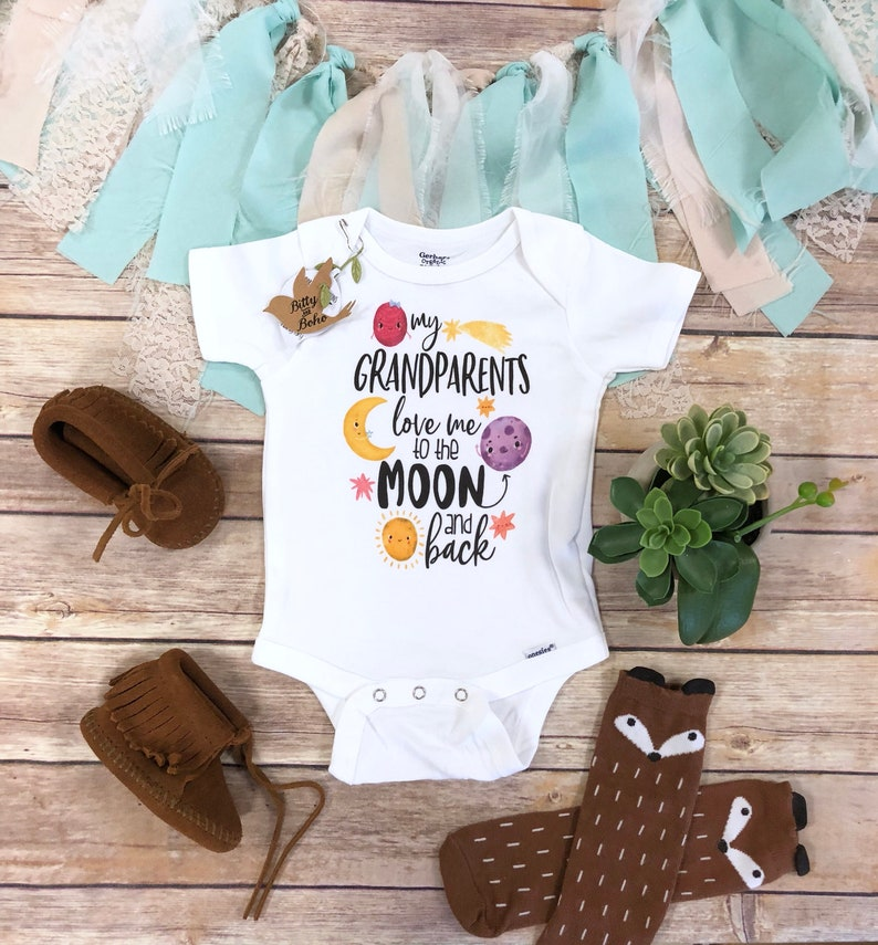 559023c247 I Love You To The Moon And Back Onesie® Grandparents Onesie | Etsy