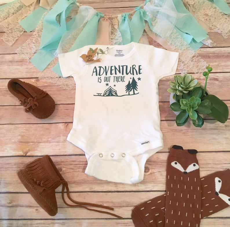 9aee1113a Adventure is Out There Onesie® Baby Boy Clothes Baby Shower | Etsy
