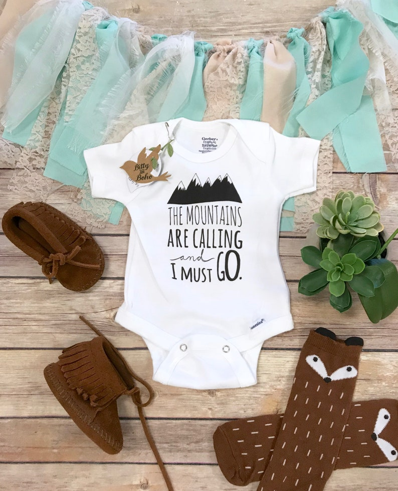 aeb035138 Mountains are Calling Onesie® Baby Boy Clothes Boho Baby