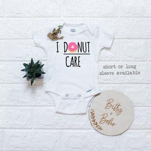 Donut Themed Baby Shower Gift Toddler Donut Shirt Kids Shirt Food Onesie Love Onesie Donuts Onesie\u00ae Donut Baby Clothes Donut Baby Outfit