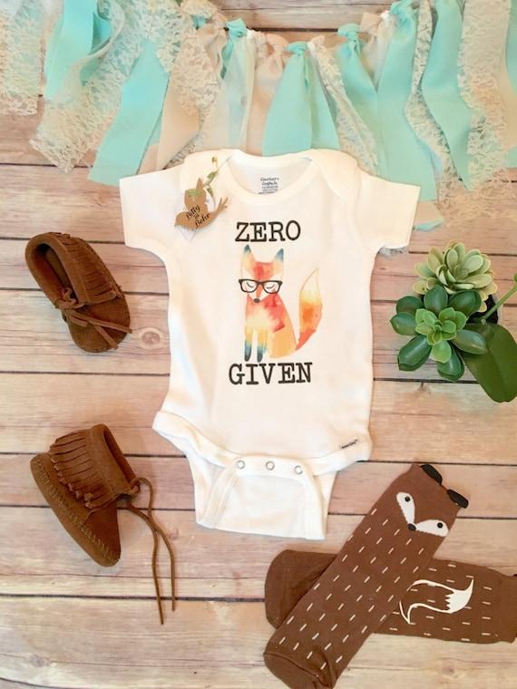fef8132ab Zero Fox Given Onesie® Baby Shower Gift Hipster Baby Boho   Etsy