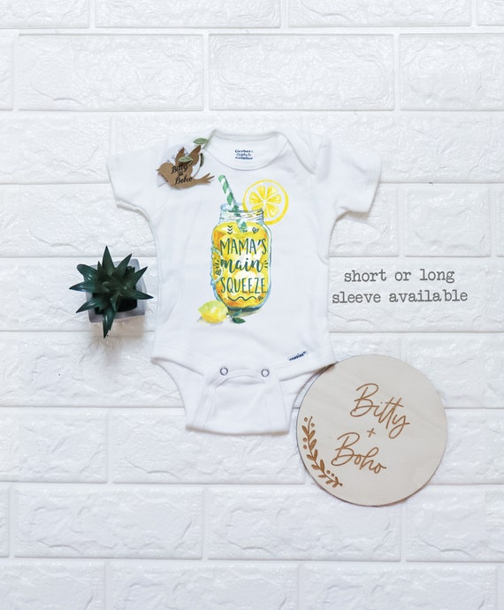 Lemonade Onesie\u00ae Mama/'s Main Squeeze Funny Onesies Country Baby Cute Baby Onesies Unisex Baby Clothes Baby Shower Gift Southern Baby