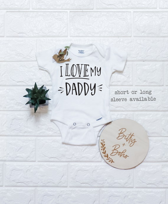 Cute Unisex Baby Onesie Gift for dad 0-3 Months Aqua Tstars Fathers Day I Have The Best DAD Ever