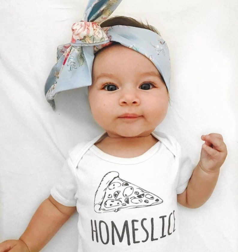 2c24e3c9b Home Slice Pizza Baby Onesie® Hipster Baby Funny Baby | Etsy