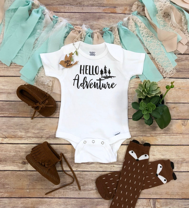 c15bacf3c102 Hello Onesie® Hipster Baby Clothes Baby Boy Clothes