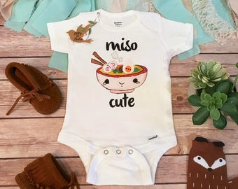 Miso Cute Onesie®, Baby Shower Gift, Unisex Baby Clothes, Baby Boy Clothes, Funny Onesies, Sushi Onesie, Cute Baby Onesies, Hipster Baby