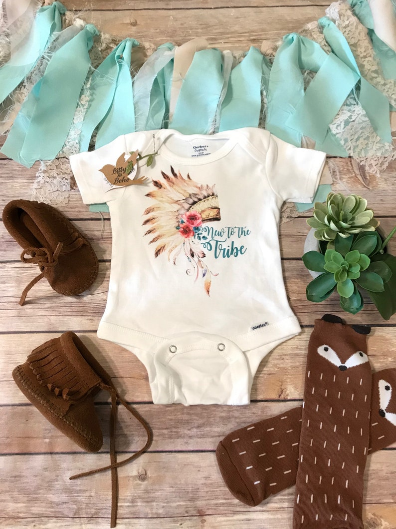 78bb03aaf8c New to the Tribe Onesie® Baby Girl Clothes Boho Baby