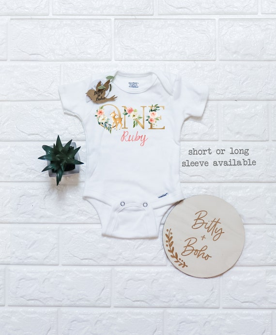 Woodland baby outfit Boho baby outfit woodland shirt woodland birthday outfit woodland birthday shirt