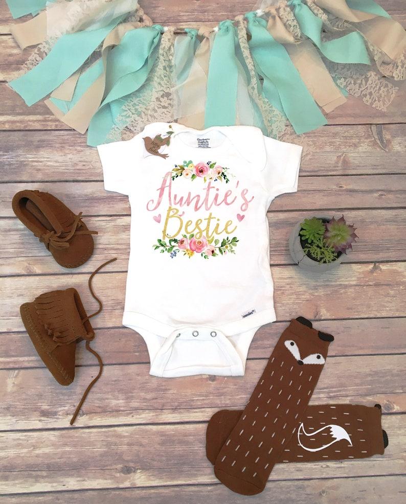 Cute Baby Gift Aunt Gift Auntie/'s Bestie Onesie Auntie Onesie Aunt Onesie\u00ae Aunt Baby Bodysuit,Best Aunt Ever Shirt Cute Baby Bodysuit