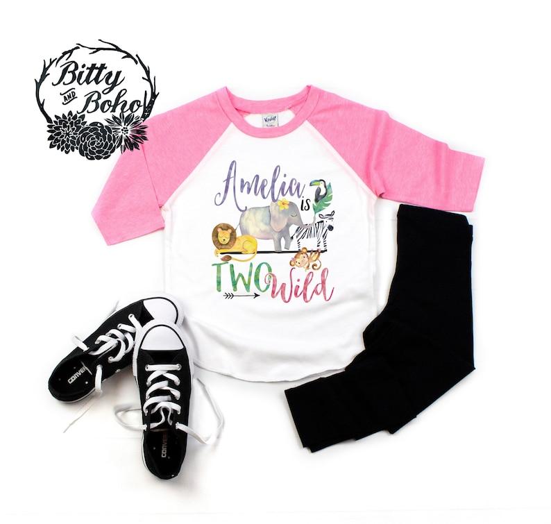 1ac940c2 Custom Two Wild Shirt Zoo Birthday Shirt Second Birthday | Etsy