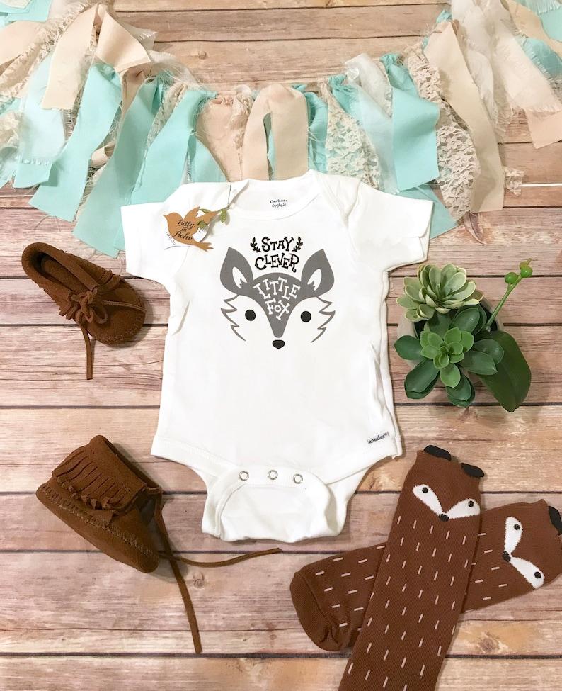 68420f36e Fox Onesie® Baby Boy Gift Baby Boy Clothes Fox Baby Shower | Etsy