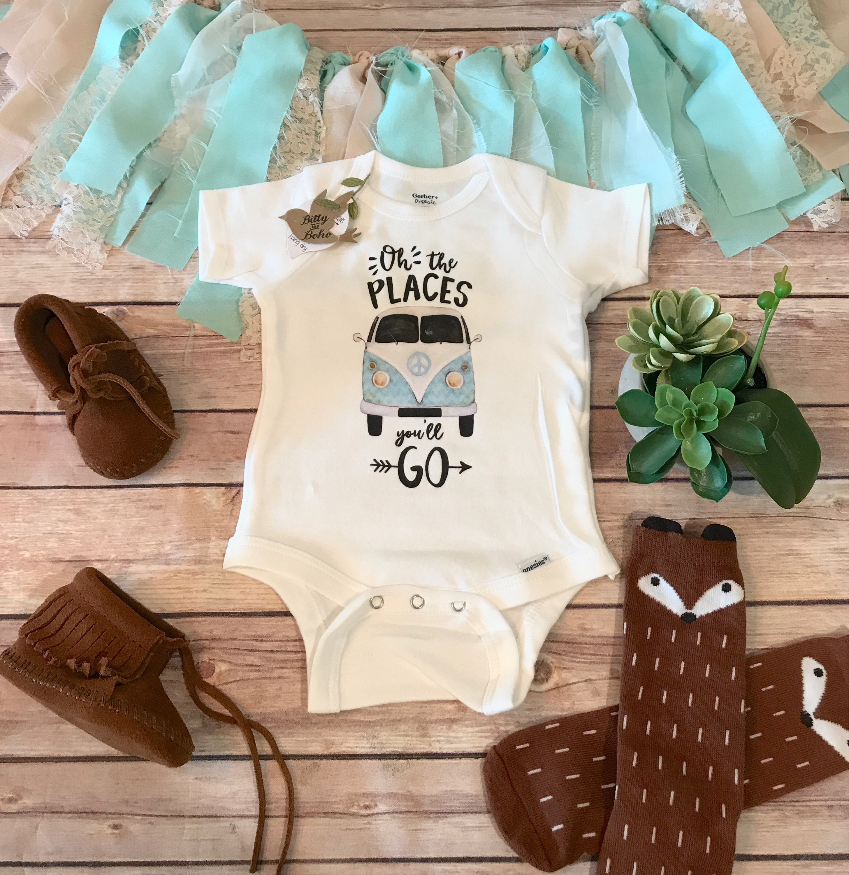 fda10dd73012 Unique Baby Gift Oh The Places You ll Go Onesie® Hipster