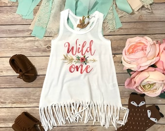First Birthday Girl Dress, Wild One Birthday, 1st Birthday Outfit, One Shirt Dress, Baby Girl Clothes, Hippie Baby Clothes, Wild One Shirt