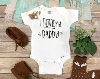 I Love My Daddy Onesie®, Hipster Baby Clothes, Dad Onesie, Baby Boy Clothes, Unisex Baby Clothes, Gifts for Dads, Love Onesie, Father's Day