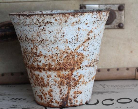 Vase, style shabby chic metal, flower pot, pot to plant, Garden vase, VS170938