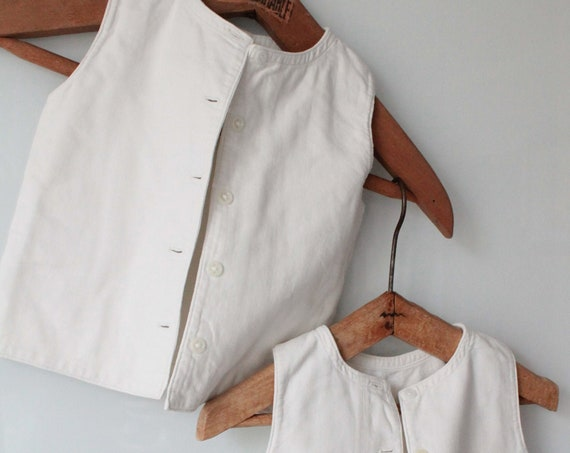 White 50s Sleeveless Baby Jacket, Size 9/12 Months, Cotton baby jacket, Boys' Suit Jacket, BB171279