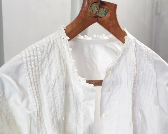 French embroidered antique shirt, bohemian chic shirt, white shirt, boho chic clothing, children's shirt, ENF181483