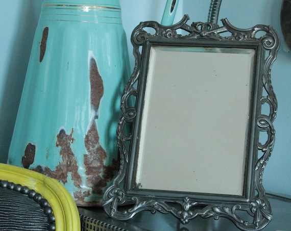 Vintage mirror in regul , early twentieth mirror, French mirror, Frame and mirror,