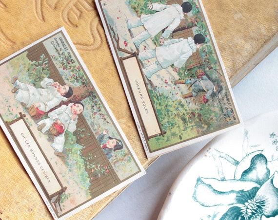 Chromos anciens français, Chocolat Poulain, images anciennes, illustrations.