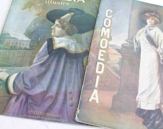 2 old French magazines Comedia of 1909, LIV181347