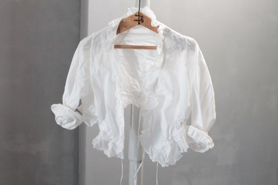 Antique white bolero shirt for girls, for ceremony, ceremonial shirt, ENF181480