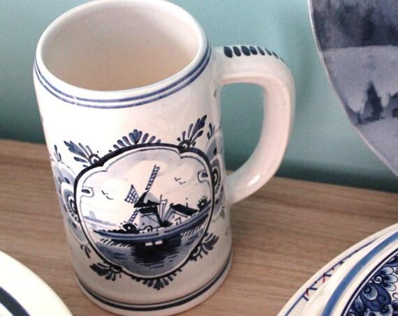 Beer mug from DELFT Holland - mug numbered collection - blue mug - gift collector - to offer - mug beer - CHOP160392