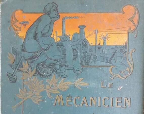 Le mécanicien moderne, Livre ancien français sur les locomotives