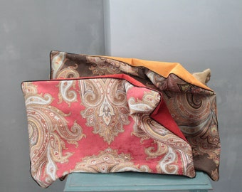 Unique Gifts Burgundy and Yellow Pillow Unique Pillow 191871 Large Velvet Upholstery Chair Bohemian Chic Orange Cushion