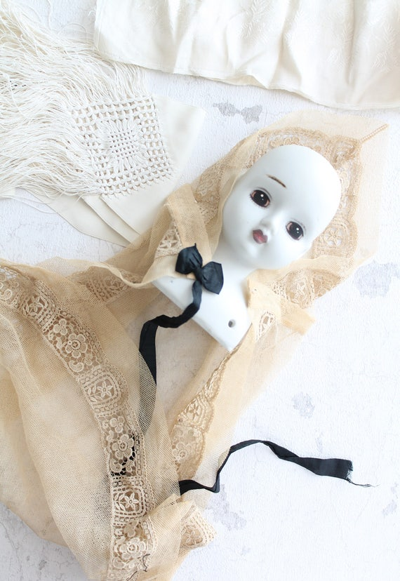 Accessory for baby photography, Veil, french vintage baptism cape baby accessory ceremony, baptism, COL171068