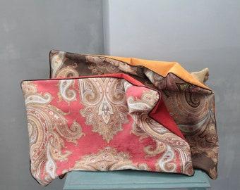 Velvet pillow, mustard yellow pillow, bohemian chic pillow, unique cushion, gift for her, velvet upholstery