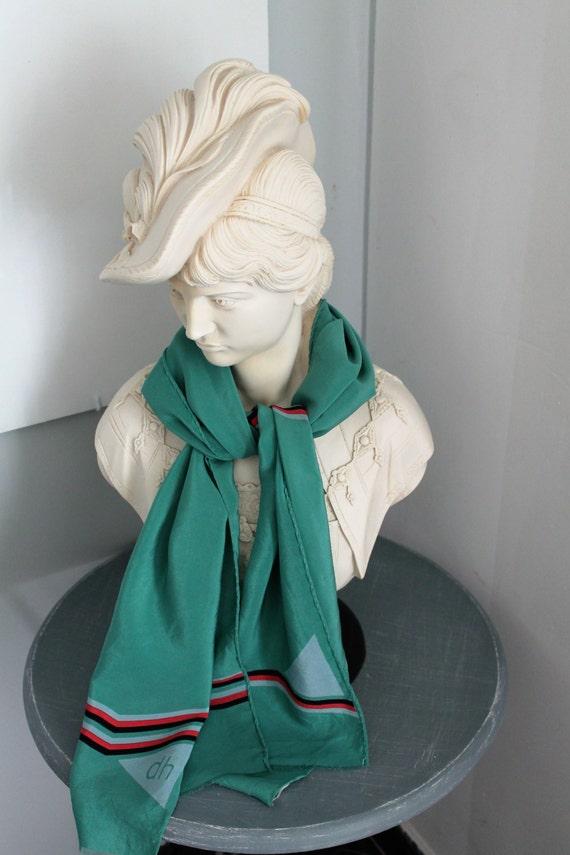 Foulard vintage Daniel HECHTER Soie,  Echarpe  des années 80, Accessoire de mode vintage, cadeau pour elle, FOUL160466