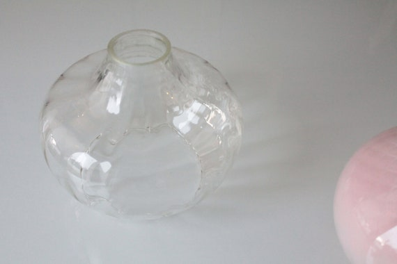 1 Globe of French Vintage Glass Fixture, Transparent Bell, Transparent Glass, Glass Pendant, LM191691