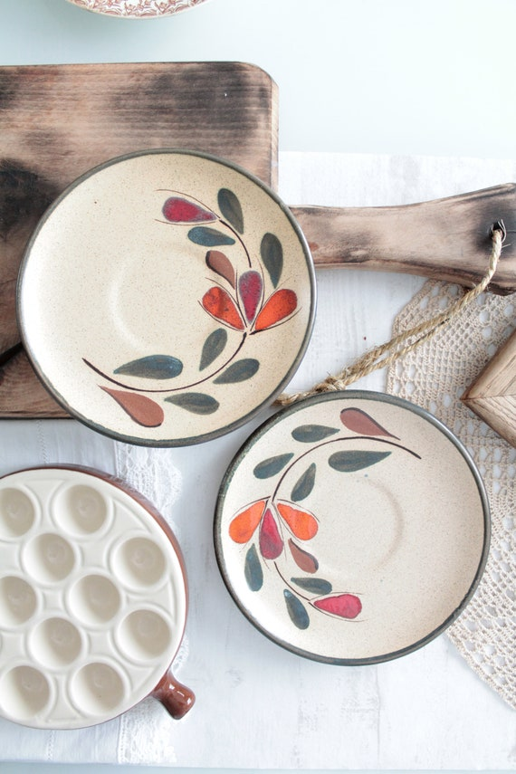 Vintage hand painted dessert plates, from St Clément, AST171302