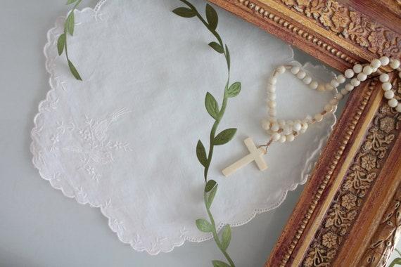 Bavoir en lin brodé pour bébé, serviettes de table pour bébé, protection pour repas, set de table baptême, ENF181499 6