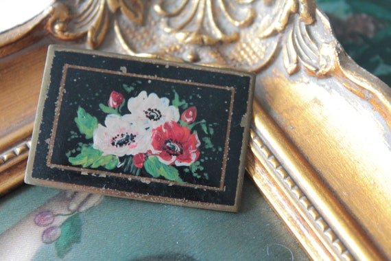 Old French brooch, flower brooch, Virgin Brooch Marie, Vintage Fashion Accessory, Ceremonial Brooch, Ancient Jewelry
