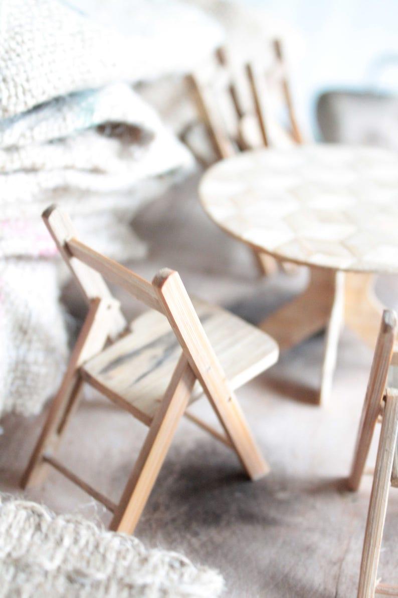 Salon de jardin et dinette en bois tourné miniature, 40 Pièces, maison de  poupées, miniatures vintage françaises en bois, DEC171276